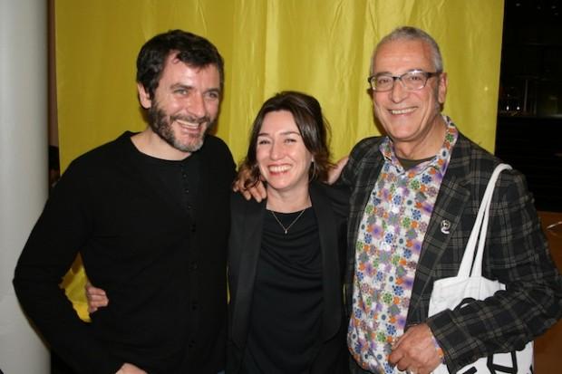 Miñarro con Àlex Brendemühl e Lola Dueñas en Rotterdam.