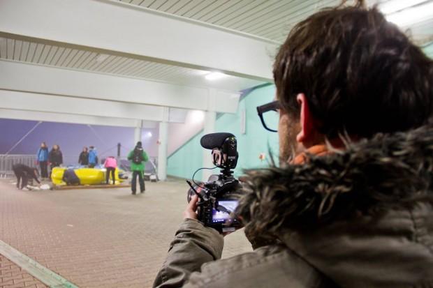 Rodaje de 'El Tiempo Futuro' en Winterberg. Foto: Isaura Docampo