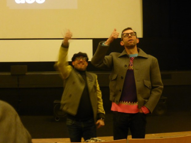 Guerra da Mata e Rodrigues, na presentación de 'Iec Long'.