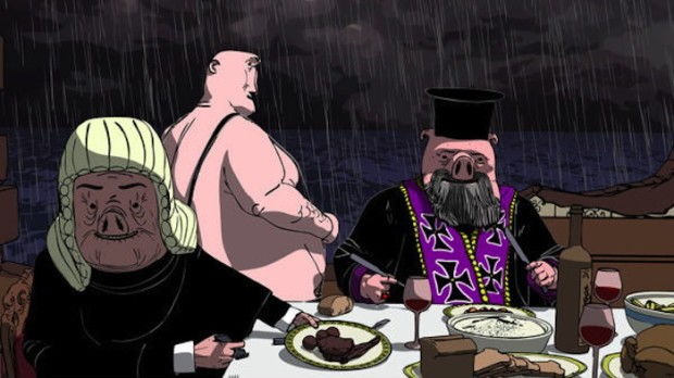 'Dinner for Few'. interesante animación, fábula da crise grega.