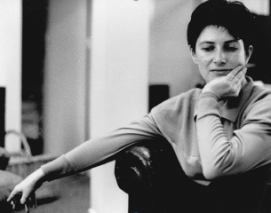 Chantal Akerman, fumando un pitillo