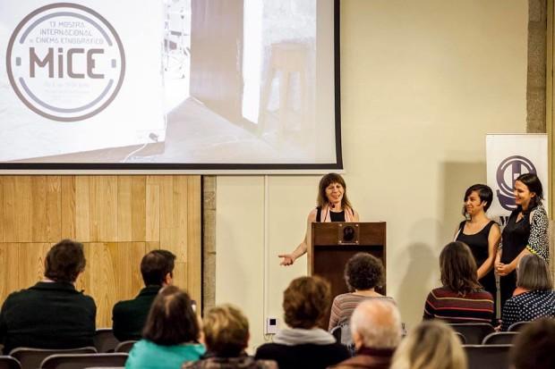 Ana Estévez [na palestra] durante a clausura da 13ª edición do MICE