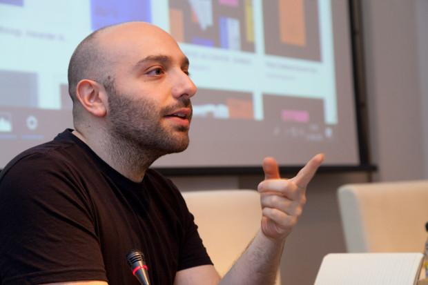 Stefano Miraglia no II Seminario de Crítica e Programación Online. Fotografía: María Meseguer